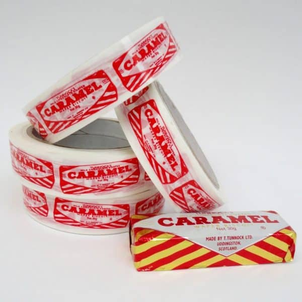 Sticky Tape with Tunnocks Caramel Wafer Design by Gillian Kyle