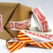 Sticky Tape with Tunnocks Caramel Wafer Design by Gillian Kyle