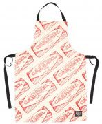 Kitchen Apron with Tunnock's Caramel Wafer Wrapper Repeat illustration
