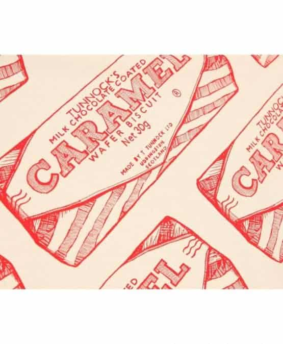 Tunnock's Caramel Wafer Wrapper Repeat illustration