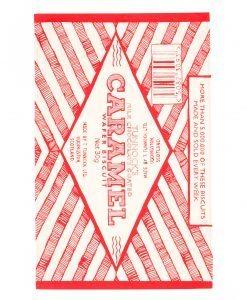 Kitchen Tea Towel with Tunnock's Caramel Wrapper illustration by Gillian Kyle