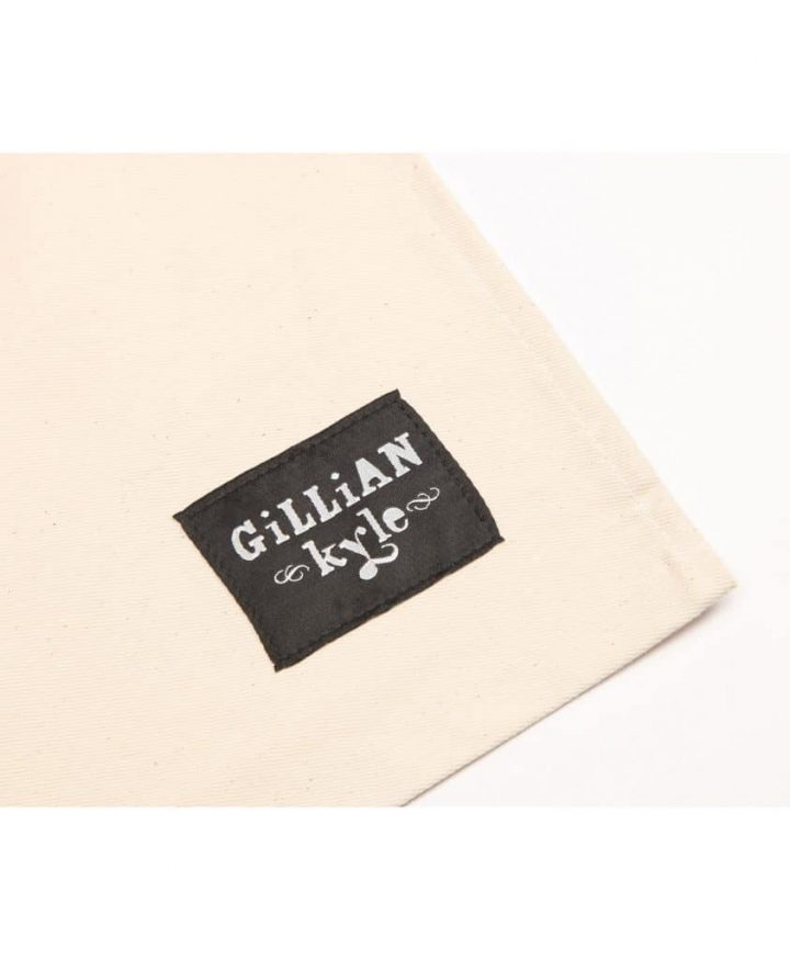 Gillian Kyle branding lebel on Kitchen Tea Towel