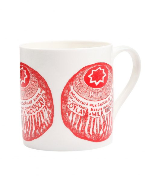 Coffee Mug with Tunnock's Tea Cake from Gillian Kyle