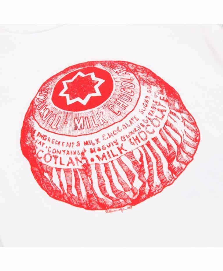 Baby Bib with Tunnock's Teacake design by Gillian KBaby Bib with Tunnock's Teacake design by Gillian Kyle (Zoom)yle