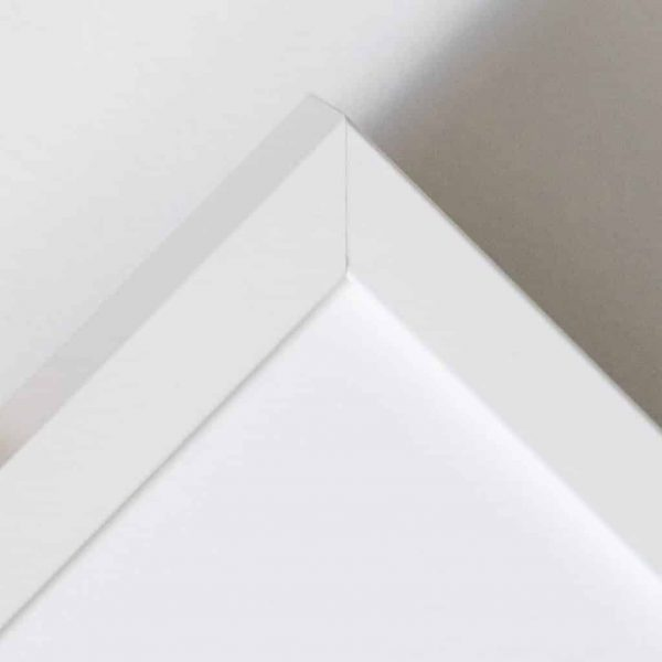 Detail of Gillian Kyle white frame