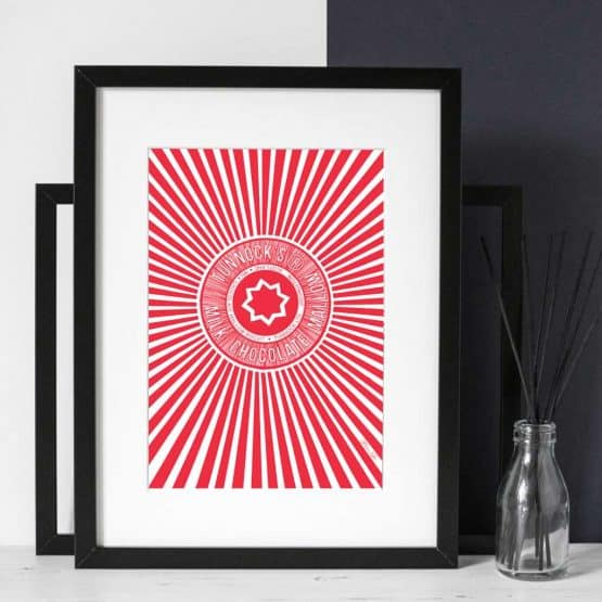 Gillian Kyle Scottish Art Gallery Tunnock's Art Print