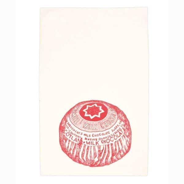 Gillian Kyle, Scottish breakfast textiles, Scottish tea towels, Scottish Tunnock's teacake print