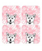 Scottish coasters with Westie design by Gillian Kyle