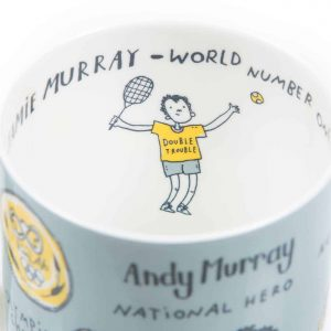 Andy Murray and Jamie Murray Wimbledon mug by Gillian Kyle
