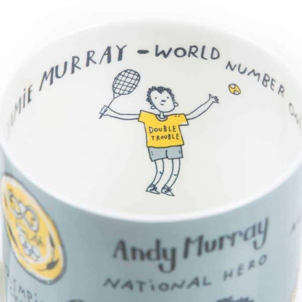Andy Murray and Jamie Murray Wimbledon mug by Gillian Kyle
