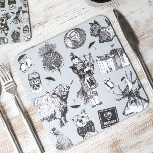 Scottish melamine placemats by Gillian Kyle