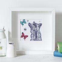 Fox print in frame by Gillian Kyle