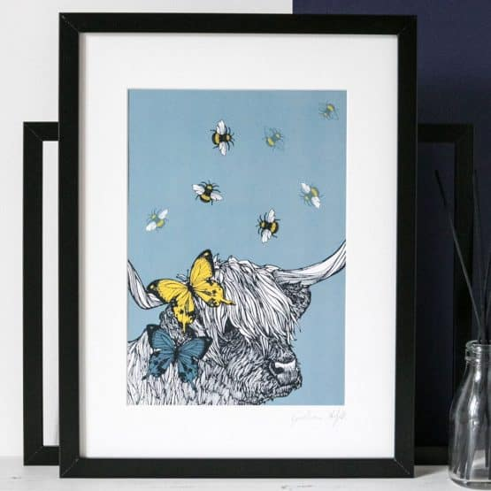 Highland Cow framed print by Gillian Kyle
