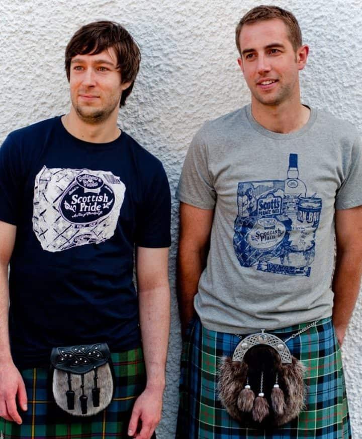 Gillian Kyle, Scottish men's clothing, Scottish men's t-shirt, Scottish unisex t-shirt,Scottish unisex clothing,  Scottish breakfast, Scottish breakfast irn bru print