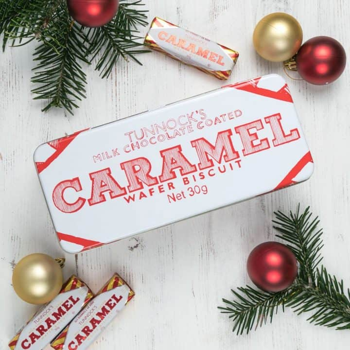 Tunnock's Caramel Wafer Biscuit tins by Gillian Kyle