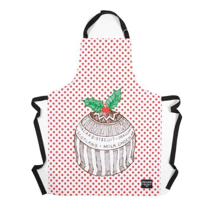 Gillian Kyle Tunnocks Teacake Christmas pudding apron