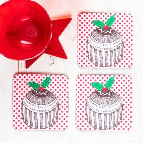 Gillian Kyle Tunnock's Teacake Christmas Pudding Coasters