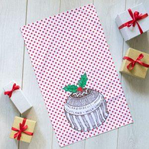 Gillian Kyle Tunnock's Teacake Christmas Pudding Tea Towel