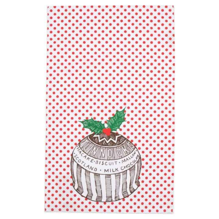 Gillian Kyle Tunnock's Teacake Christmas Pudding Tea Towel