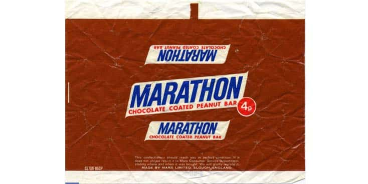 Marathon Not Snickers