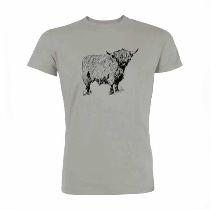 Gillian Kyle, Scottish Mens Clothing, Scottish Unisex Clothing, Scottish Men's T-Shirt, Scottish Unisex Tshirt, Highland Cow Design
