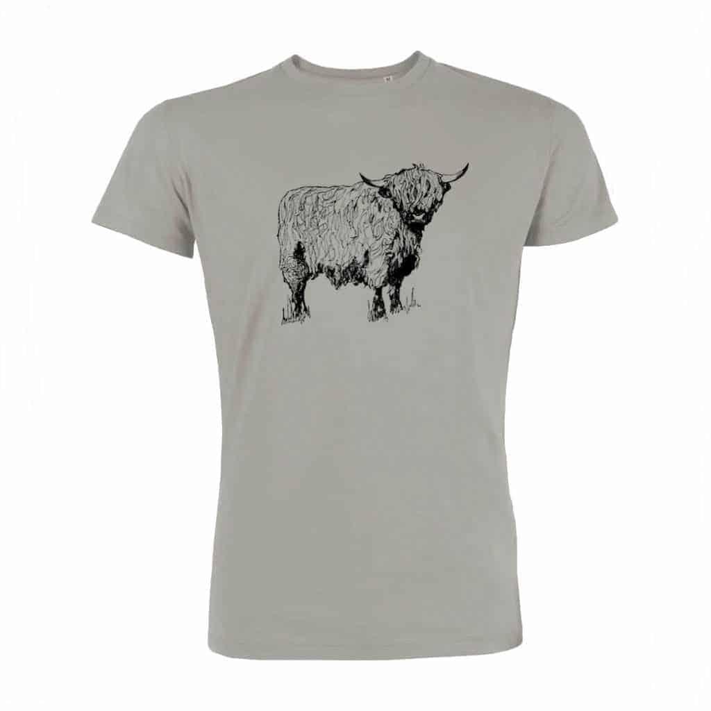 Gillian Kyle, Scottish Mens Clothing, Scottish Unisex Clothing, Scottish Men's T-Shirt, Scottish Unisex Tshirt, Highland Cow Design
