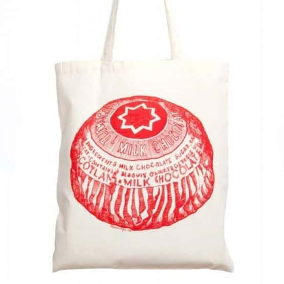 Cotton shopper with Tunnock's Teacake print by Gillian Kyle