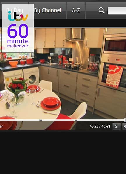 Gillian Kyle tea towel on 60 minute makeover :)