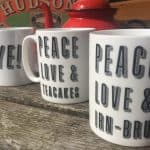 Gillian Kyle's Peace Love and Irn Bru Coffee Mug