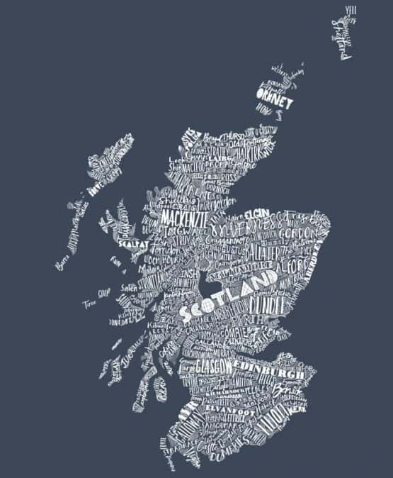 Gillain Kyle, Scottish men's clothing, Scottish unisex clothing, Scottish men's t-shirt, Scottish unisex t-shirt, Scotland map design