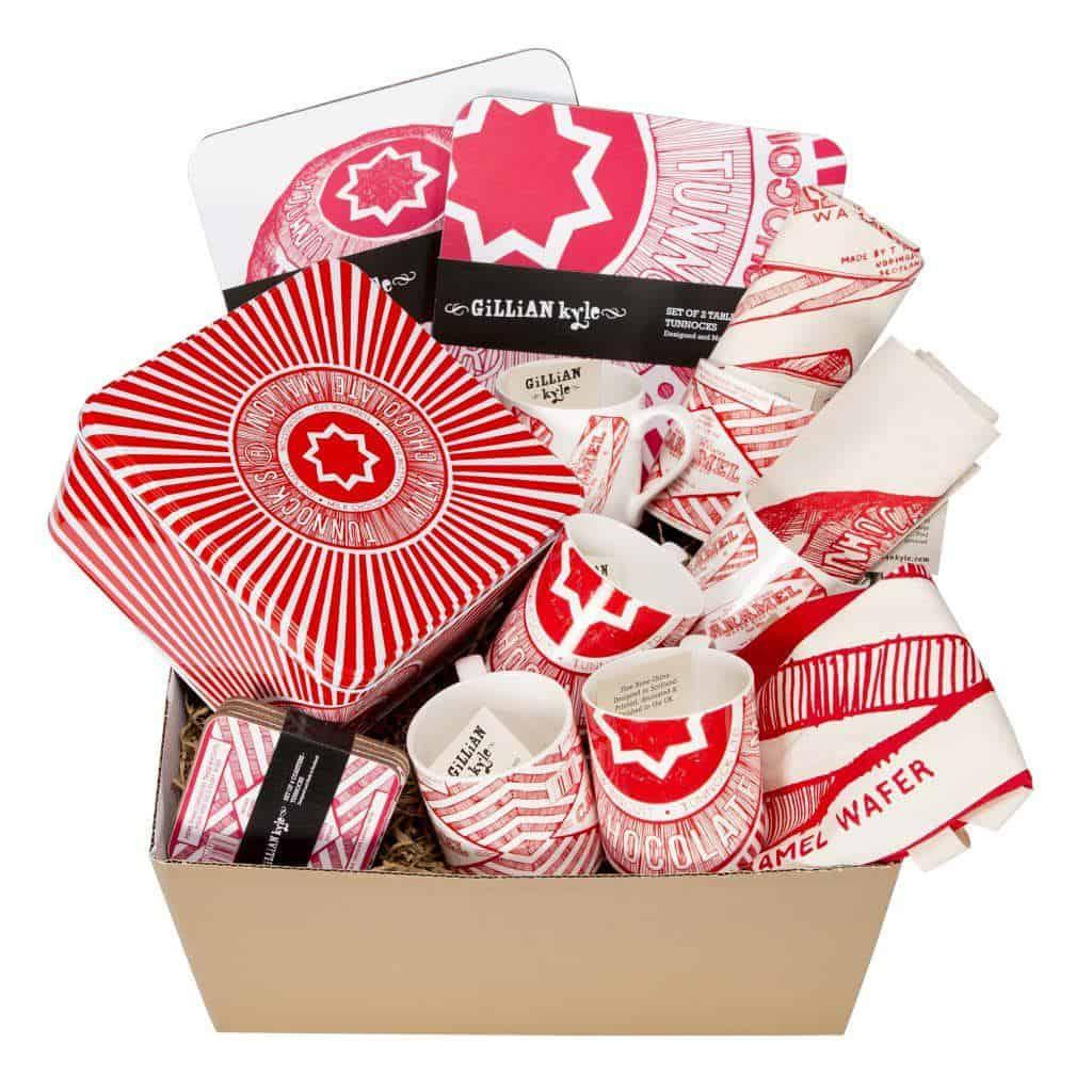 Gillian Kyle Scottish Gift Tunnocks Pudding Teacake Caramel Wafer Hamper