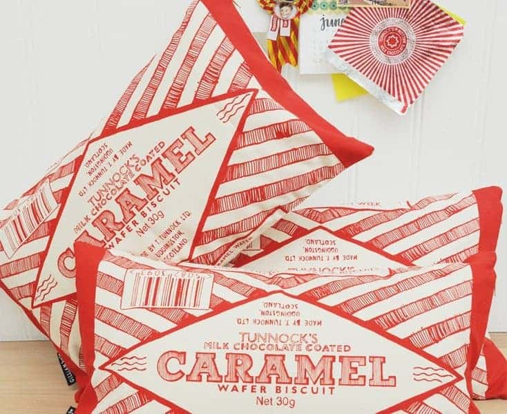 Tunnocks Caramel Wafer Cushion