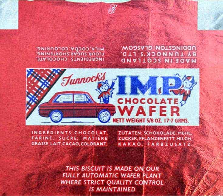 Tunnocks Imp retro wrapper