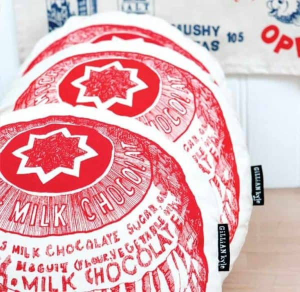 Tunnocks Tea Cake cushion