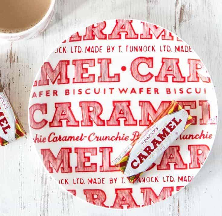 tunnocks caramel wafer plate