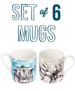 set-of-6-tartan-stag-and-cow-mugs