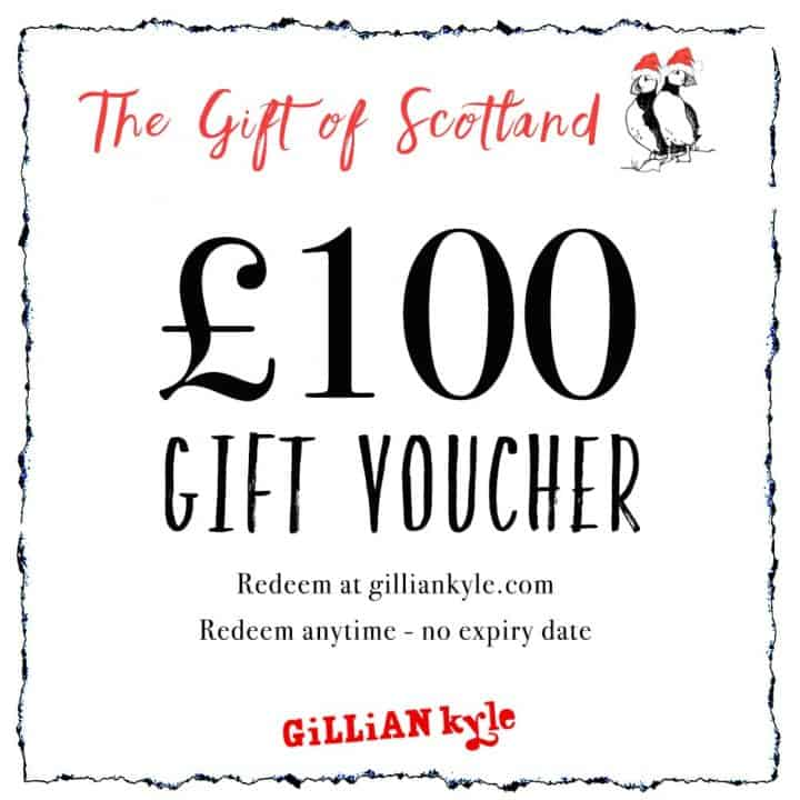 £100 gift voucher by Scottish artist Gillian Kyle
