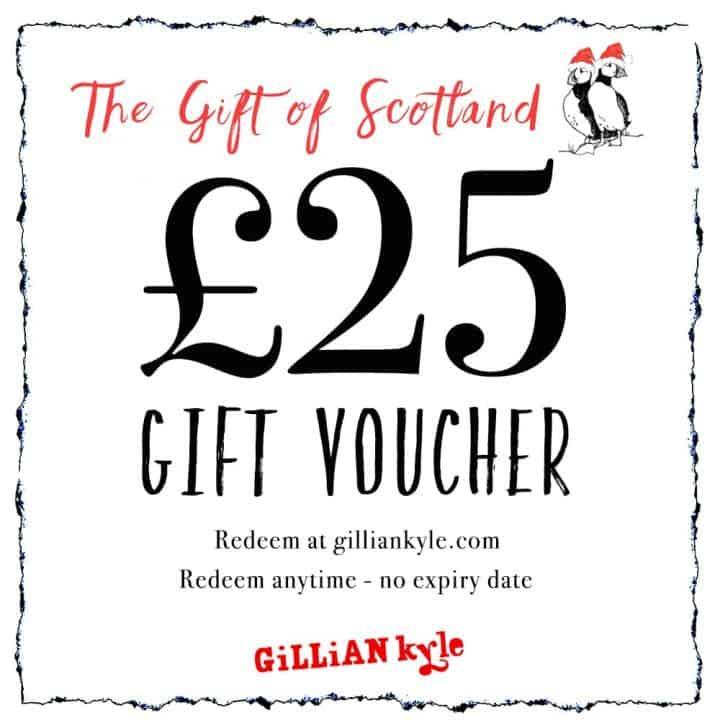 £25 gift voucher by Scottish artist Gillian Kyle