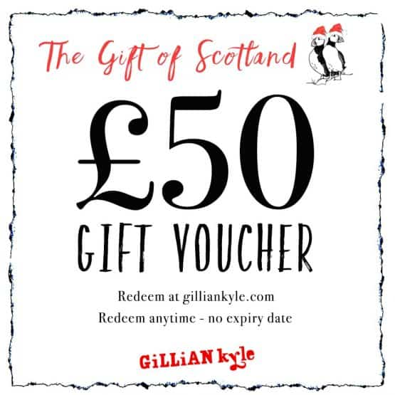 £50 gift voucher by Scottish artist Gillian Kyle