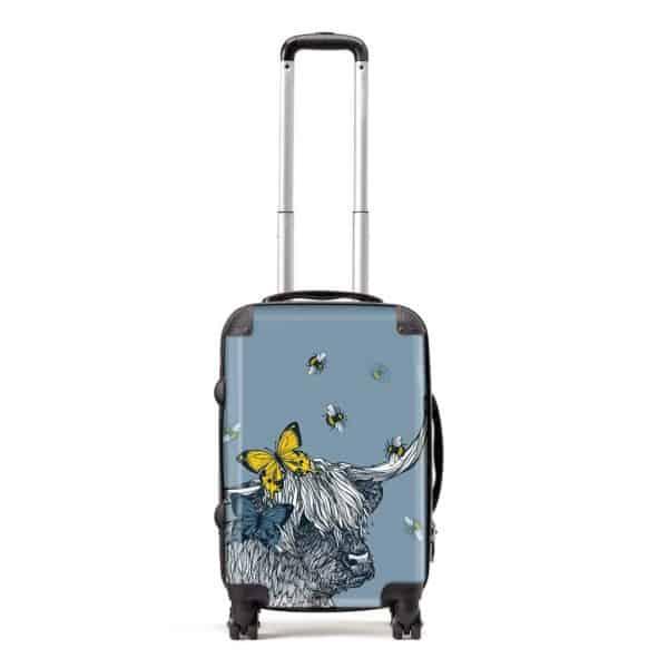 Gillian Kyle suitcase in Lola Highland Cow design