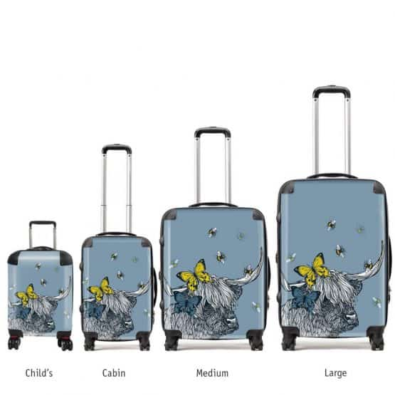 Gillian Kyle Lola Highland Cow suitcases