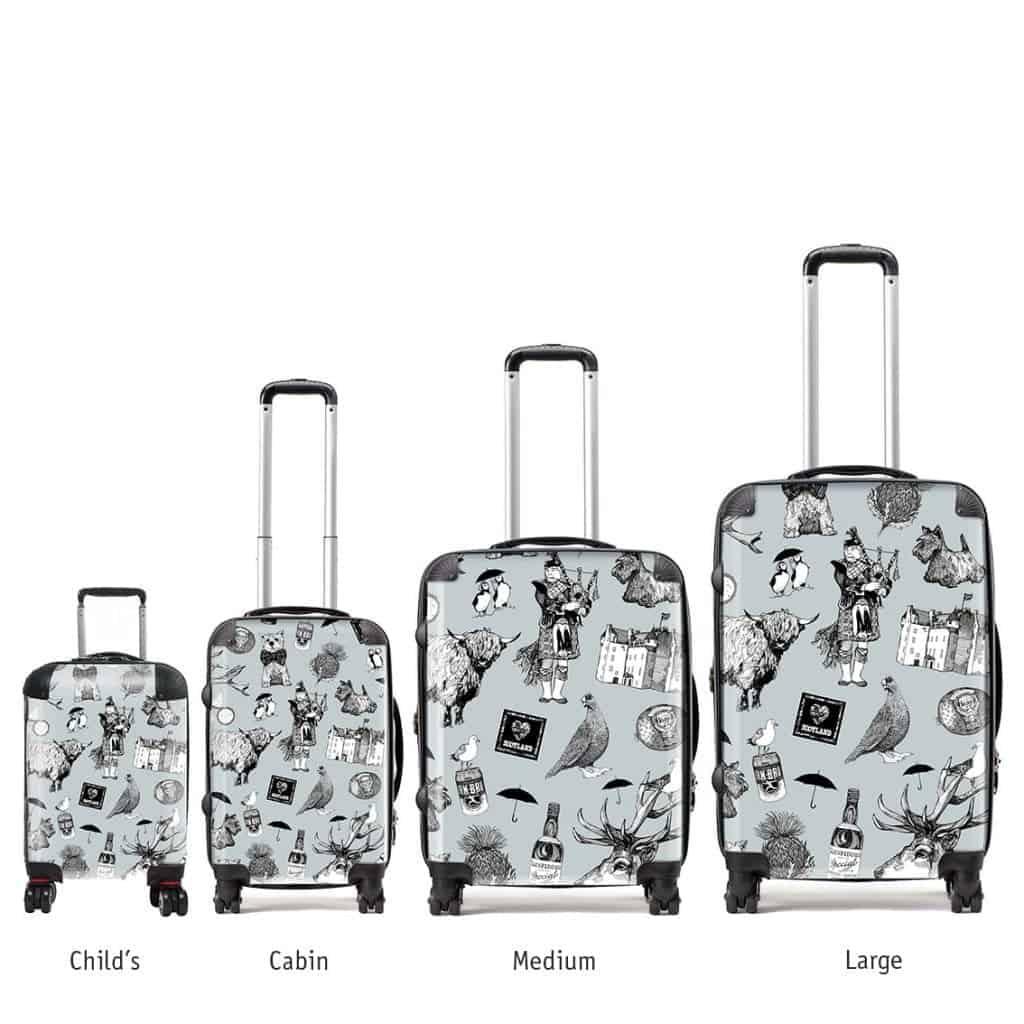 Hardback Lightweight Suitcase Of Love Scotland Scottish