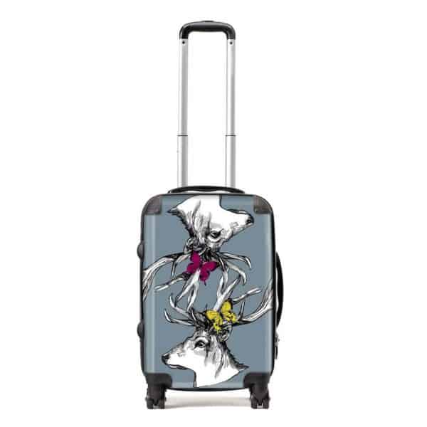 scottish stags art suitcase by Gillian Kyle