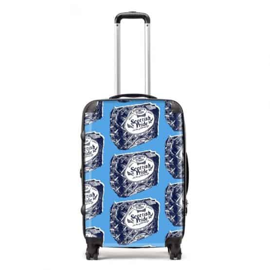 Scottish suitcase in Scottish Pride design by Gillian Kyle