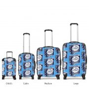 Scottish suitcases various sizes in Scottish Pride design by Gillian Kyle