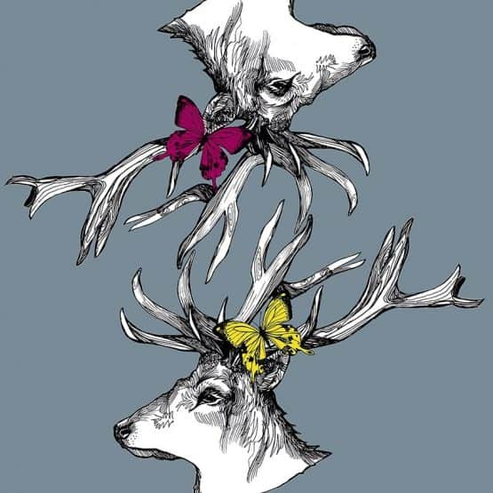 gillian kyle mr stags reflection print suitcase detail