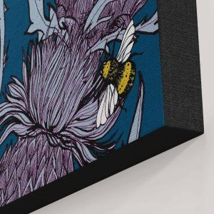 Detail of Indigo Thistle Canvas print by Gillian Kyle