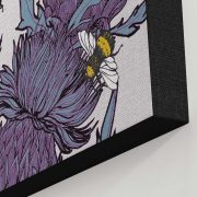 Detail of Lilac Thistle Canvas print by Gillian Kyle