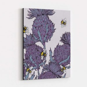 Scottish Thistle wall art canvas by Gillian Kyle
