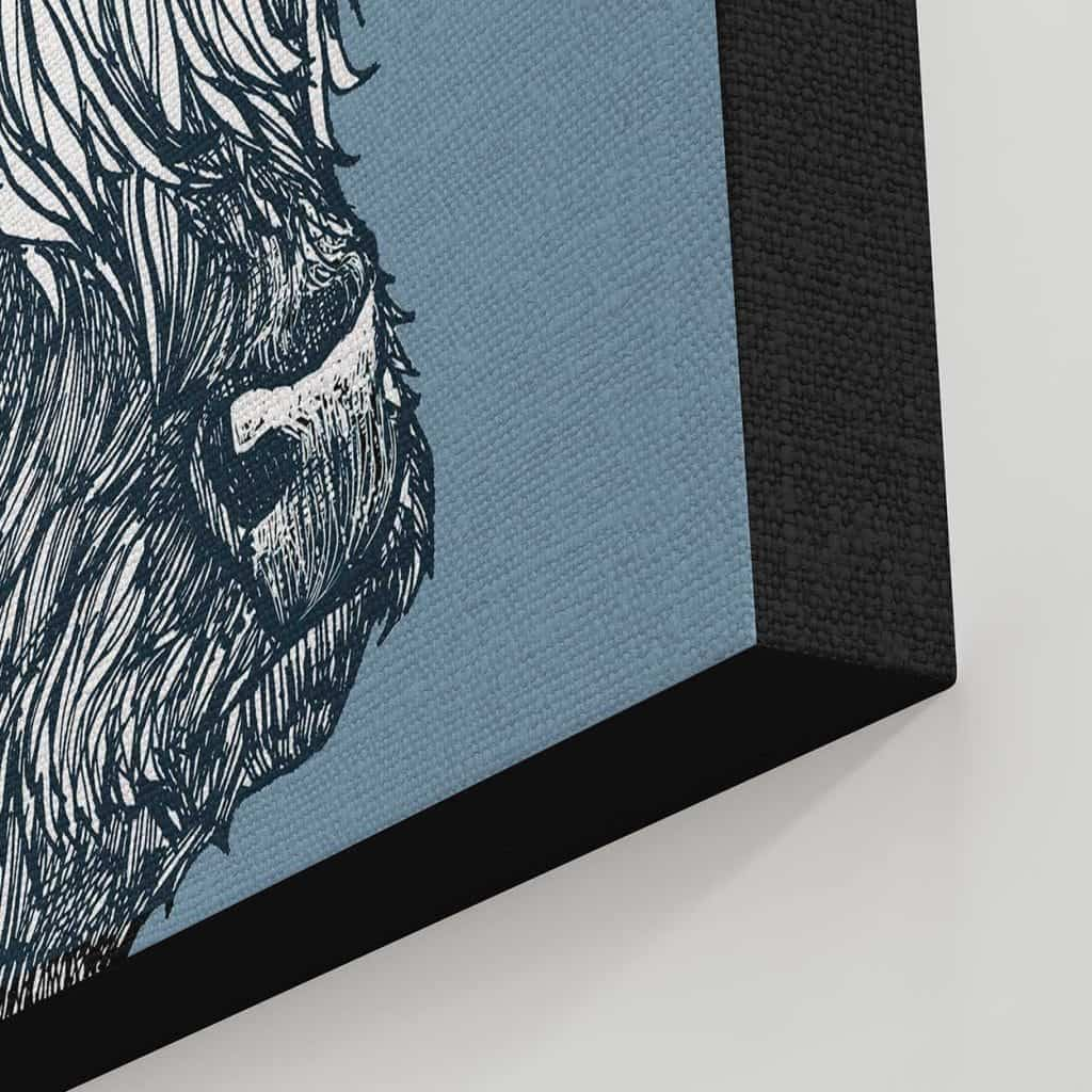 Detail of Highland Cow Canvas print by Gillian Kyle